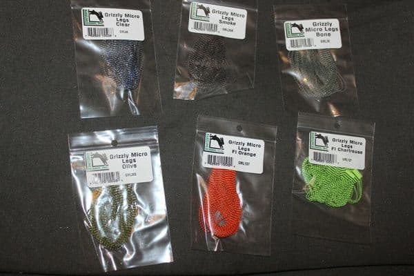 Fly Tying Hareline Grizzly Micro Legs
